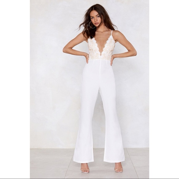 Nasty Gal Pants - Nasty Gal Studio Talithia Embroidered Jumpsuit